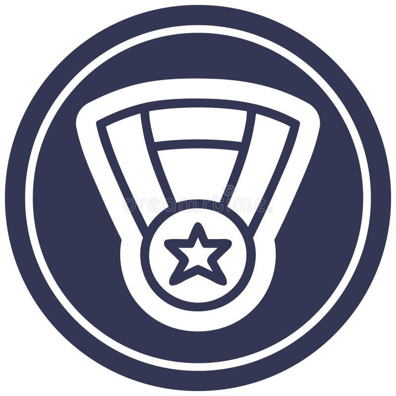Icono del premio de la medalla ilustración del vector