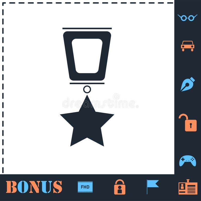 Icono del premio plano stock de ilustración