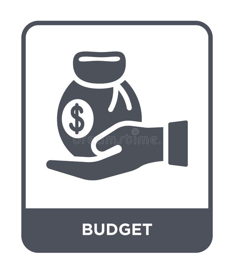 icono del presupuesto en estilo de moda del diseño icono del presupuesto aislado en el fondo blanco símbolo plano simple y modern ilustración del vector