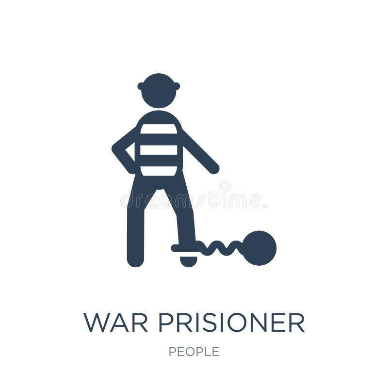icono del prisioner de la guerra en estilo de moda del diseño icono del prisioner de la guerra aislado en el fondo blanco icono d ilustración del vector
