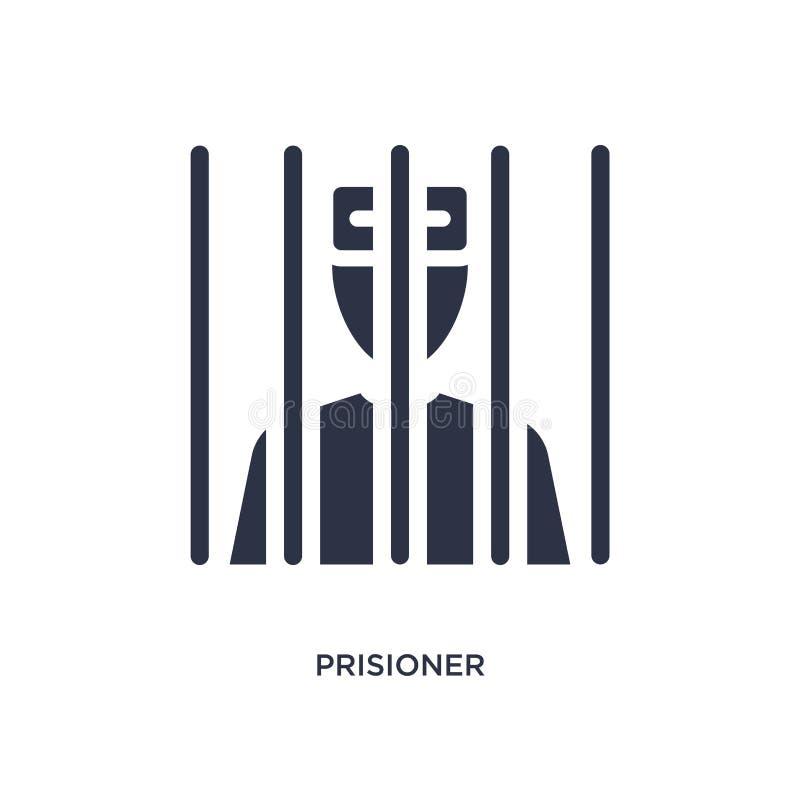 icono del prisioner en el fondo blanco Ejemplo simple del elemento del concepto de la ley y de la justicia stock de ilustración