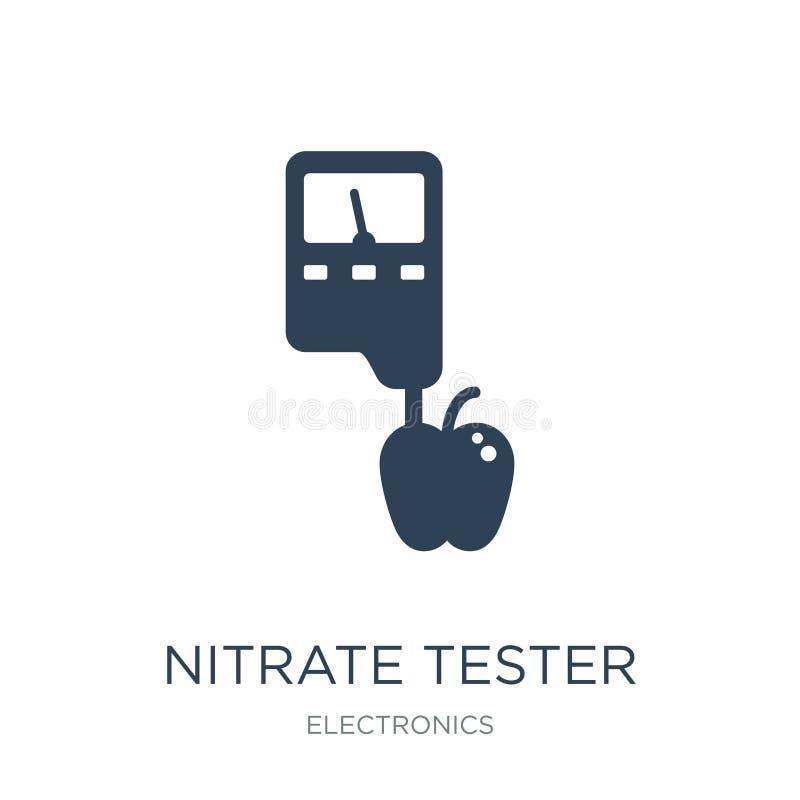 icono del probador del nitrato en estilo de moda del diseño icono del probador del nitrato aislado en el fondo blanco icono del v libre illustration