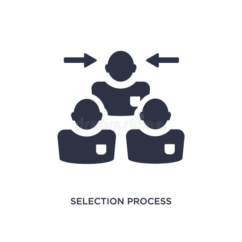 icono del proceso de selección en el fondo blanco Ejemplo simple del elemento del concepto de los recursos humanos stock de ilustración