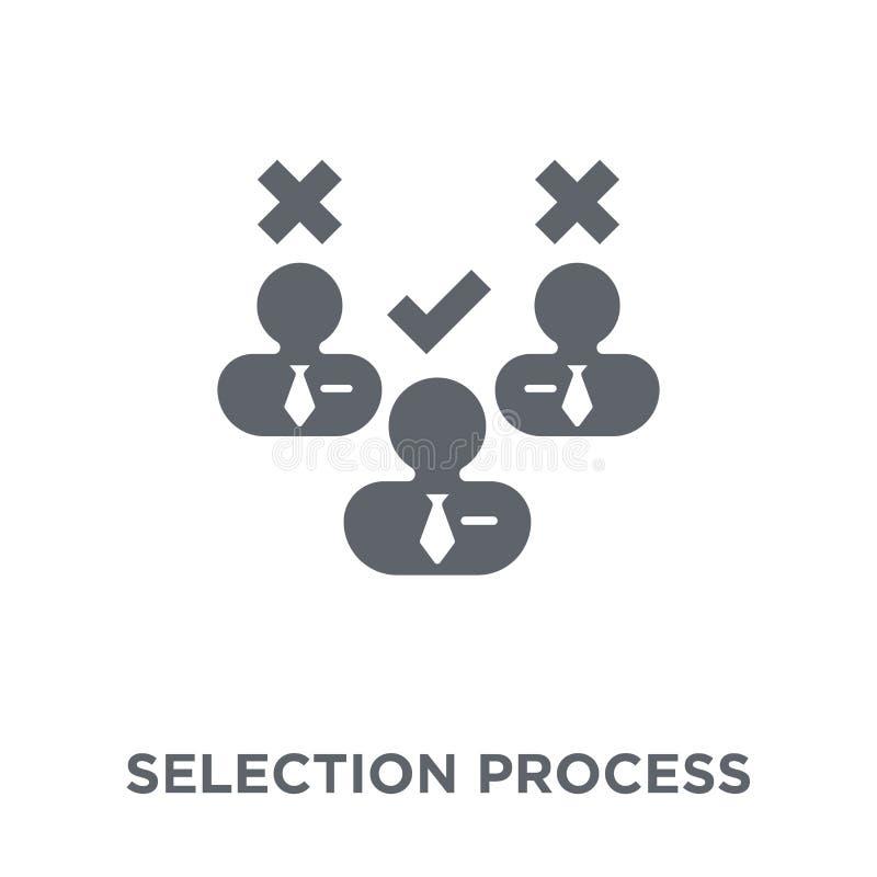 Icono del proceso de selección de la colección de los recursos humanos stock de ilustración