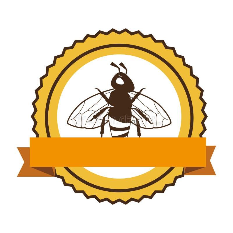 Icono del producto natural de la abeja stock de ilustración
