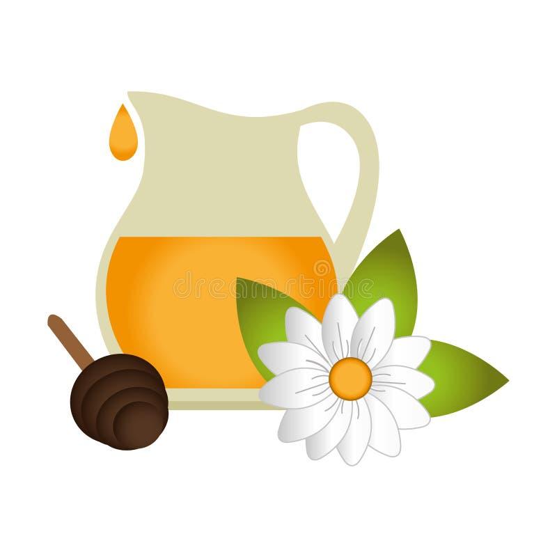 Icono del producto natural de la abeja ilustración del vector