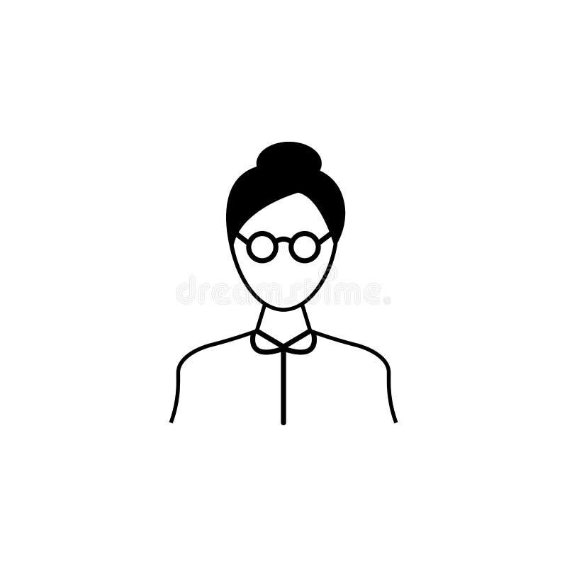 Icono del profesor Elemento de Avatar de las profesiones para los apps móviles del concepto y del web Línea fina icono para el di stock de ilustración
