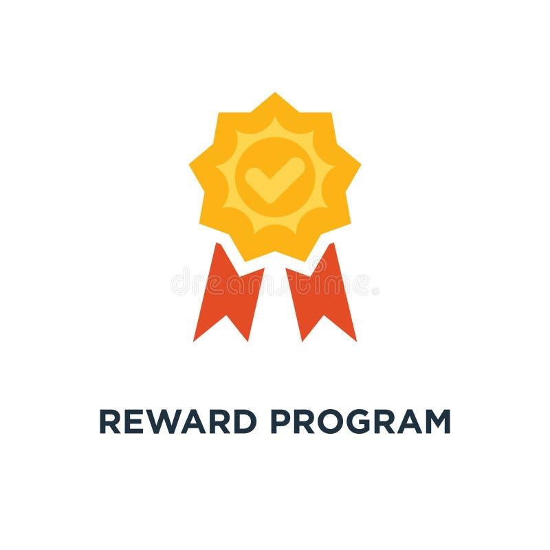 icono del programa de la recompensa la taza del ganador, gana los puntos, diseño del símbolo del concepto de la medalla, primer c libre illustration