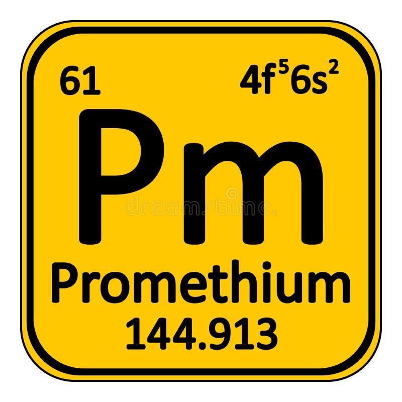 Icono del prometio del elemento de tabla peridica stock de download icono del prometio del elemento de tabla peridica stock de ilustracin ilustracin de escuela urtaz Image collections