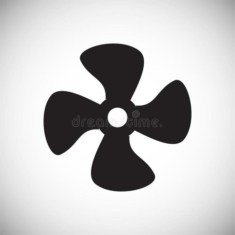 Icono del propulsor en el fondo para el gráfico y el diseño web Muestra simple del vector Símbolo del concepto de Internet para e stock de ilustración