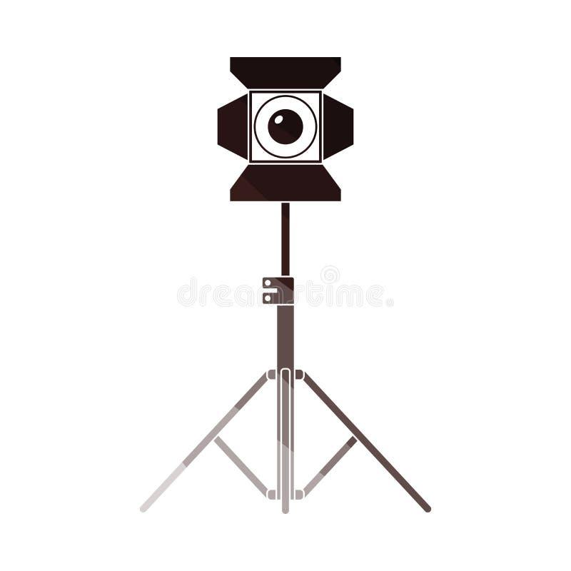 Icono del proyector de la etapa stock de ilustración