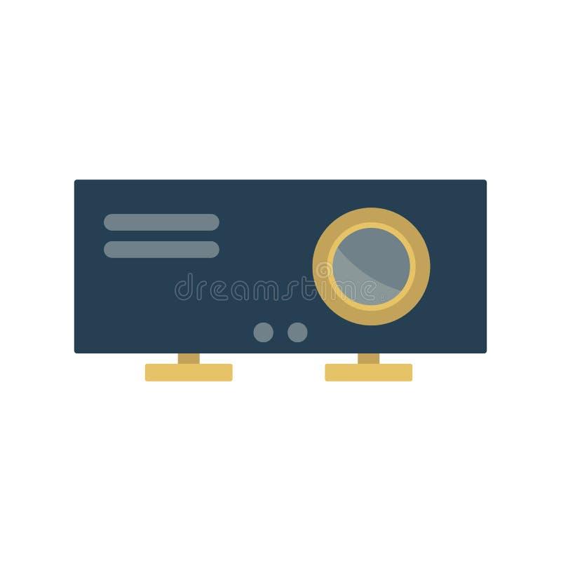 Icono del proyector Elemento para el dise?o ilustración del vector