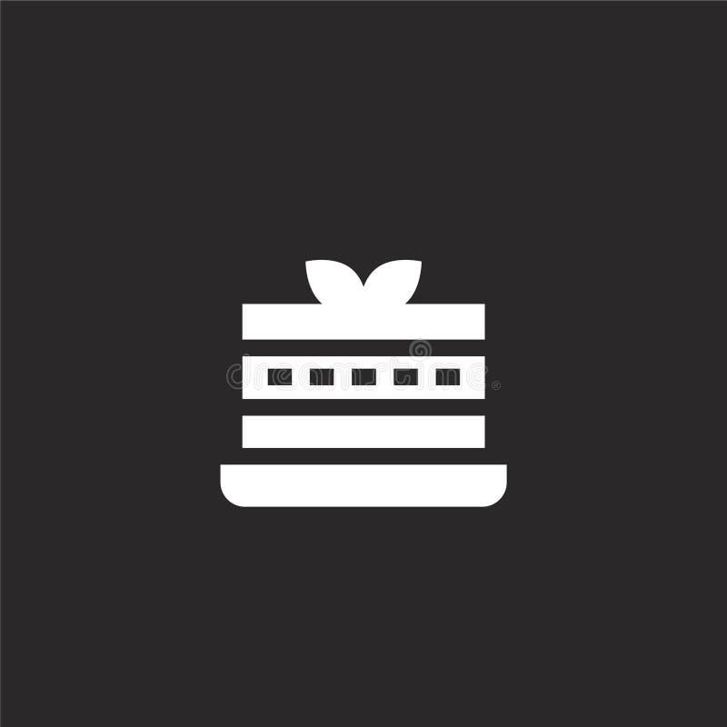 Icono del pud?n Icono llenado del pudín para el diseño y el móvil, desarrollo de la página web del app icono del pudín de la cole ilustración del vector