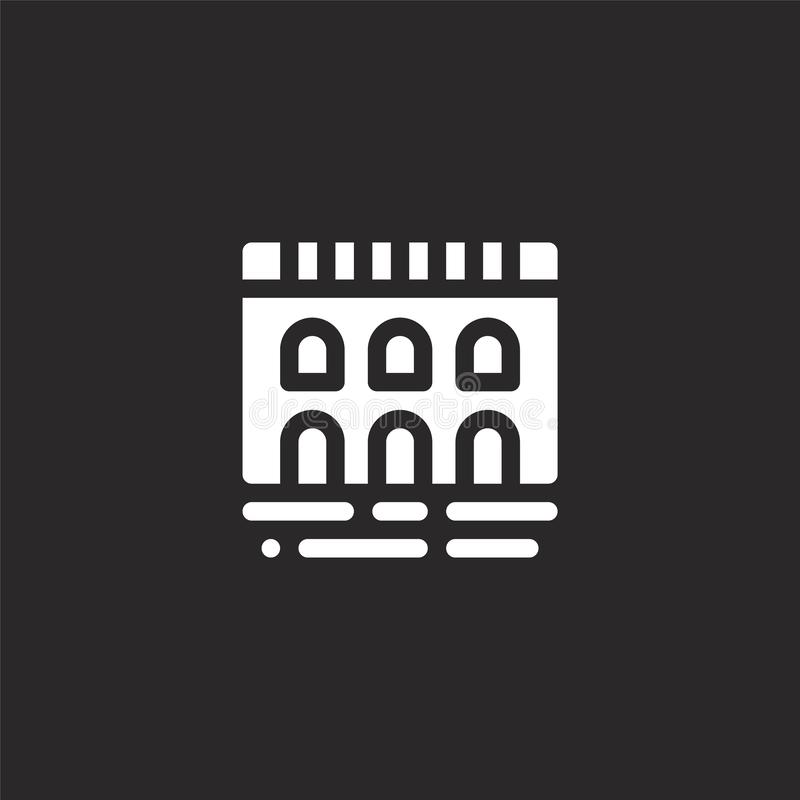 Icono del puente Icono llenado del puente para el diseño y el móvil, desarrollo de la página web del app el icono del puente de l libre illustration