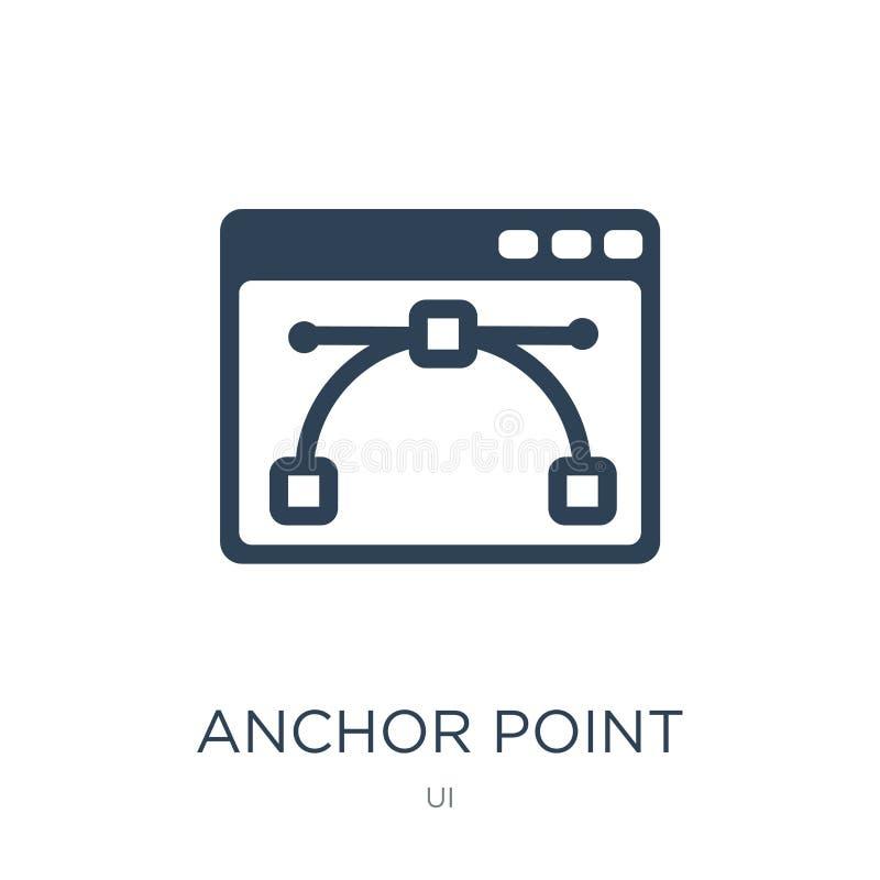 icono del punto de anclaje en estilo de moda del diseño icono del punto de anclaje aislado en el fondo blanco icono del vector de libre illustration