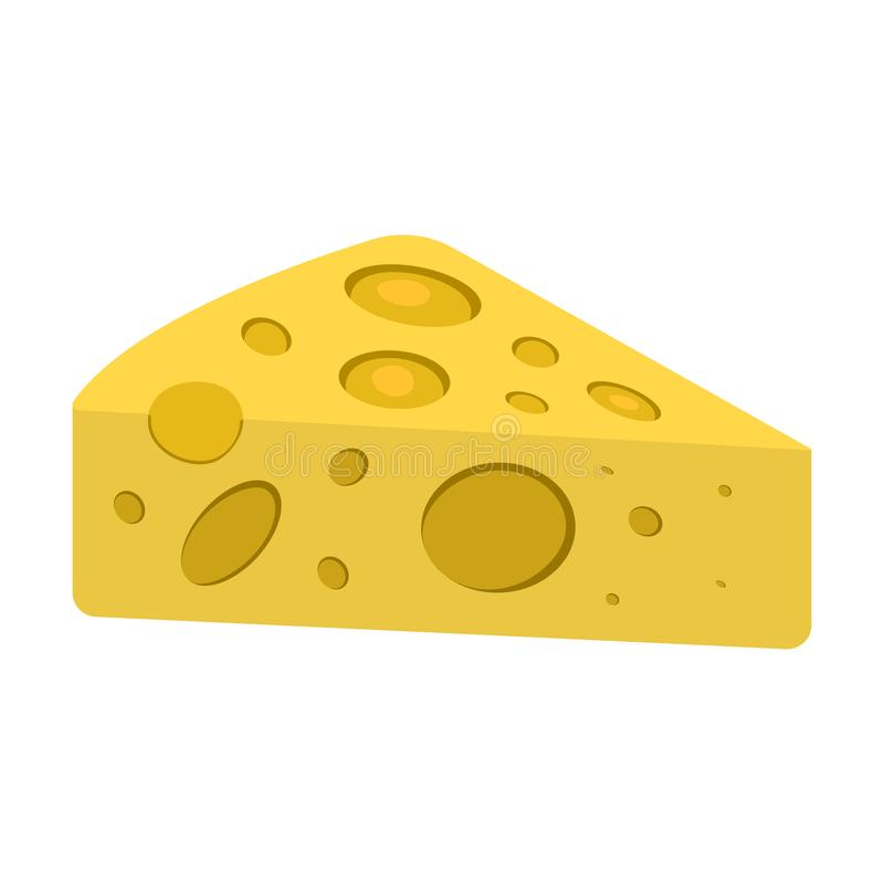 Icono del queso Etiqueta del Bbq y de la comida campestre en el fondo blanco historieta libre illustration