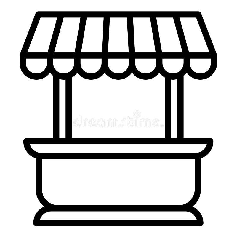 Icono del quiosco de la calle, estilo del esquema libre illustration