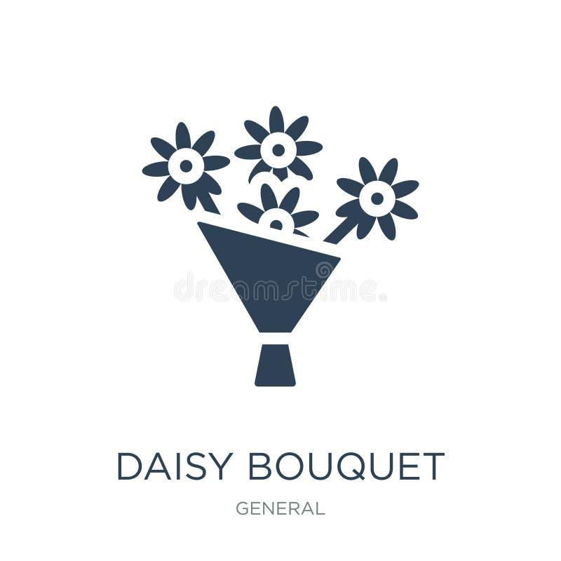 icono del ramo de la margarita en estilo de moda del diseño icono del ramo de la margarita aislado en el fondo blanco icono del v stock de ilustración