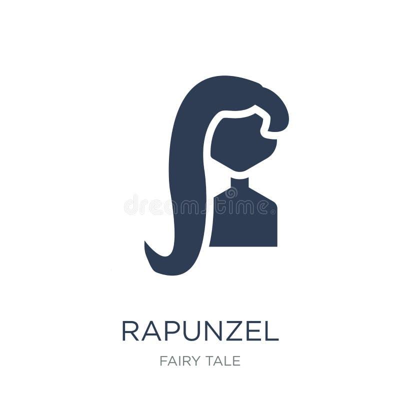 icono del rapunzel Icono plano de moda del rapunzel del vector en el backgro blanco libre illustration