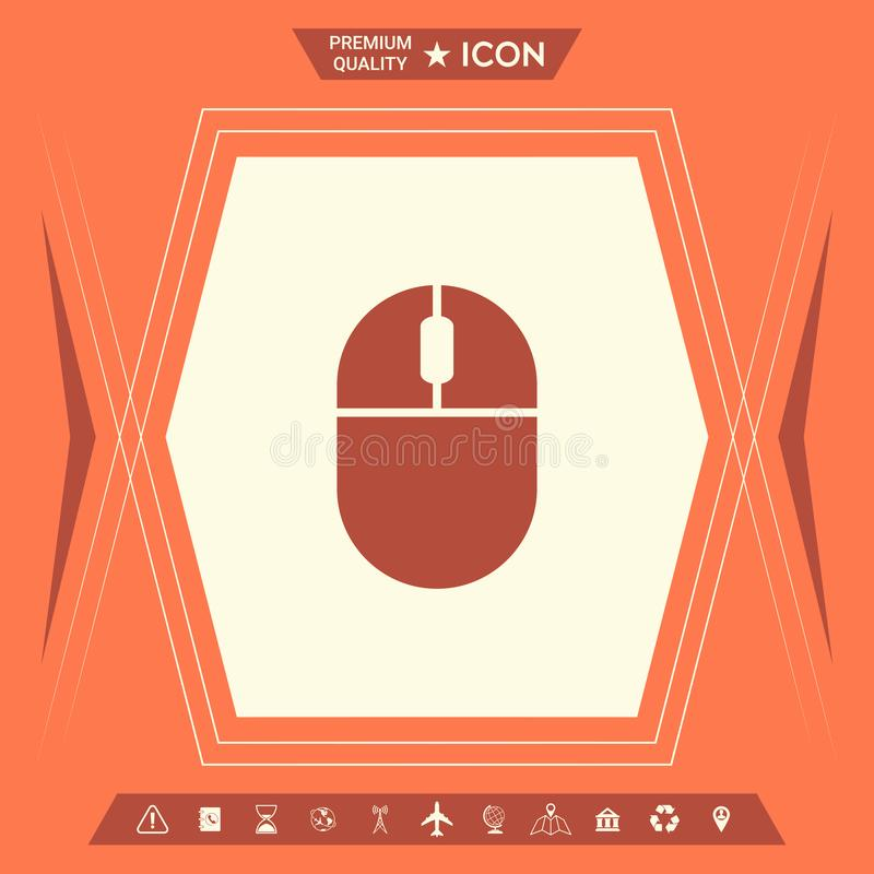 Icono del ratón del ordenador ilustración del vector
