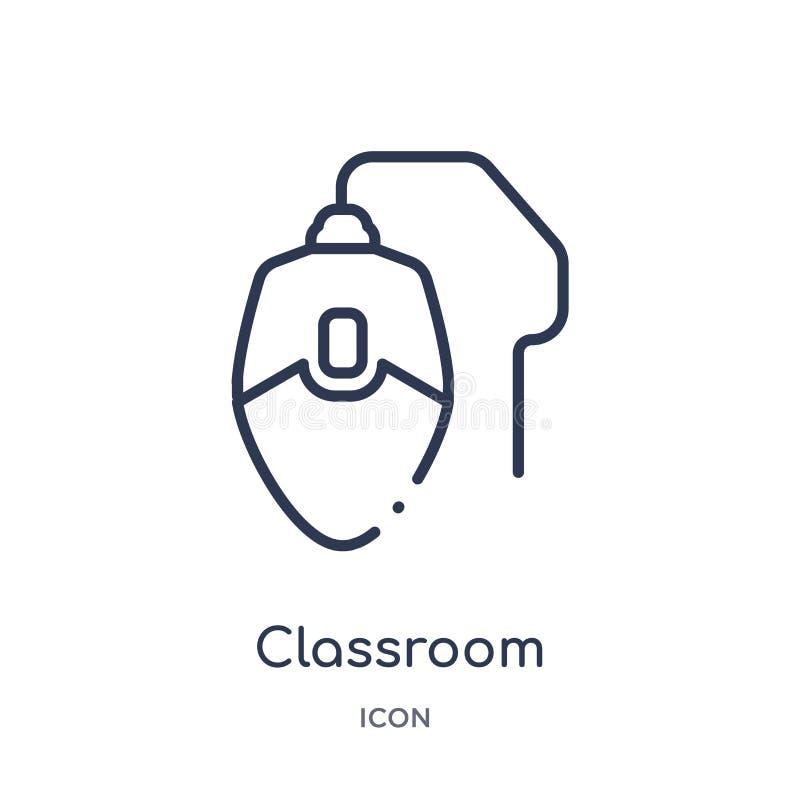 icono del ratón del ordenador de sala de clase de la colección del esquema de la tecnología Línea fina icono del ratón del ordena libre illustration