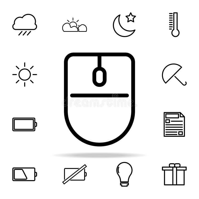 Icono del ratón del ordenador sistema universal de los iconos del web para el web y el móvil ilustración del vector