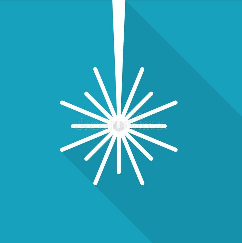 Icono del rayo del laser ilustración del vector