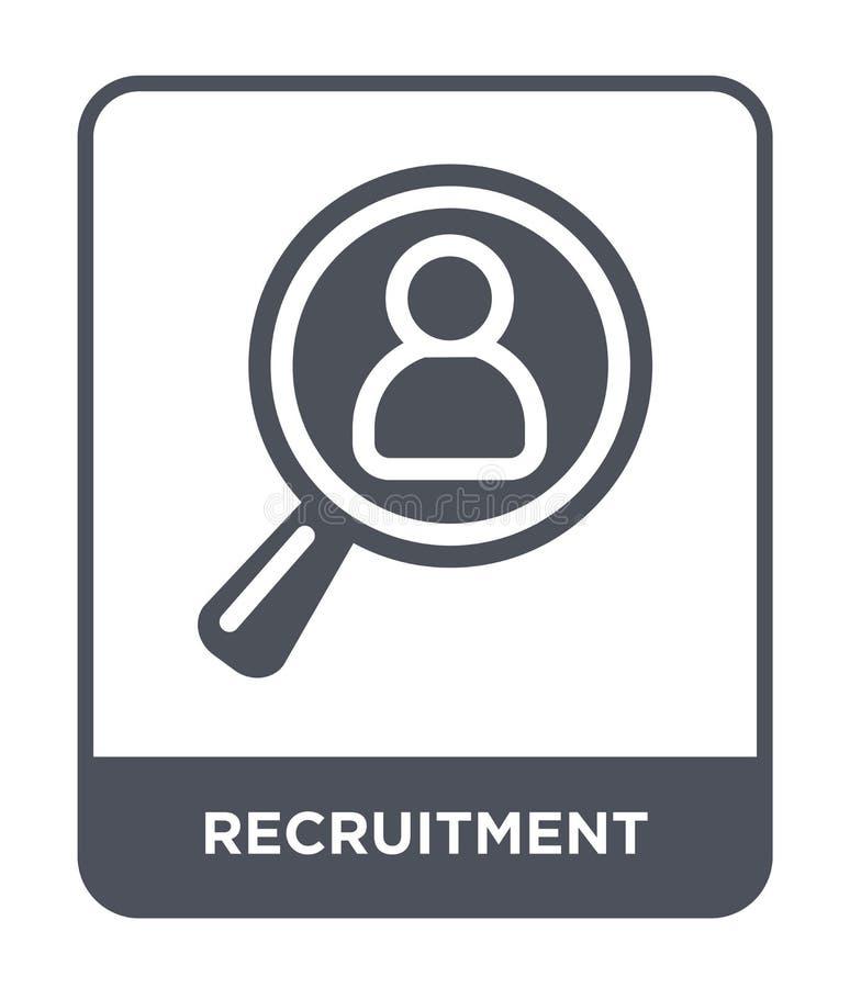 icono del reclutamiento en estilo de moda del diseño icono del reclutamiento aislado en el fondo blanco icono del vector del recl ilustración del vector
