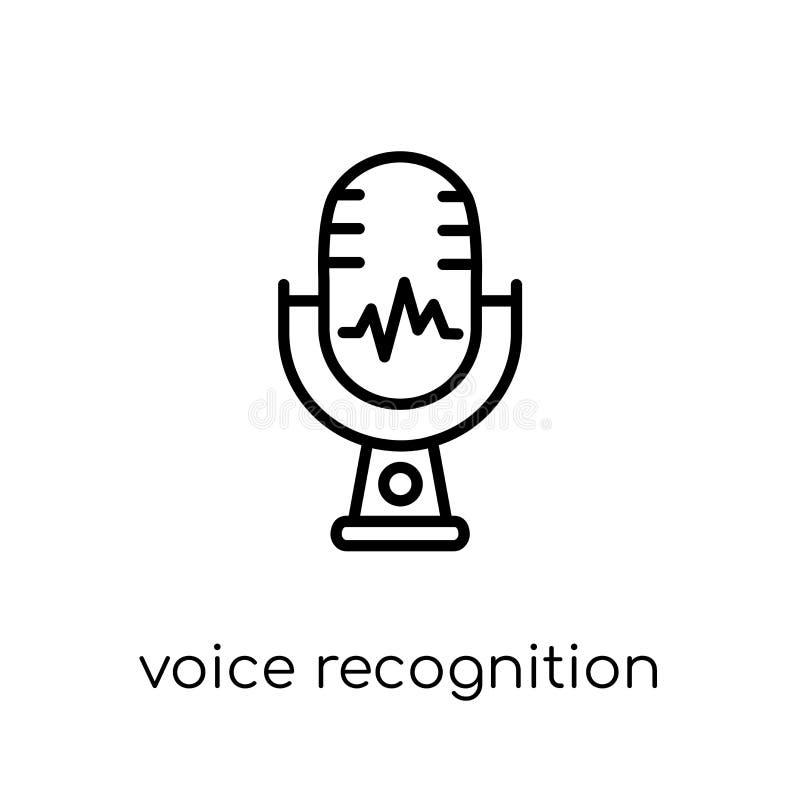 Icono del reconocimiento vocal  ilustración del vector