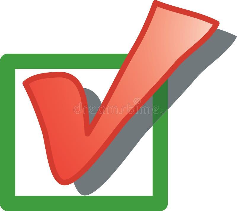 Icono del rectángulo de verificación libre illustration