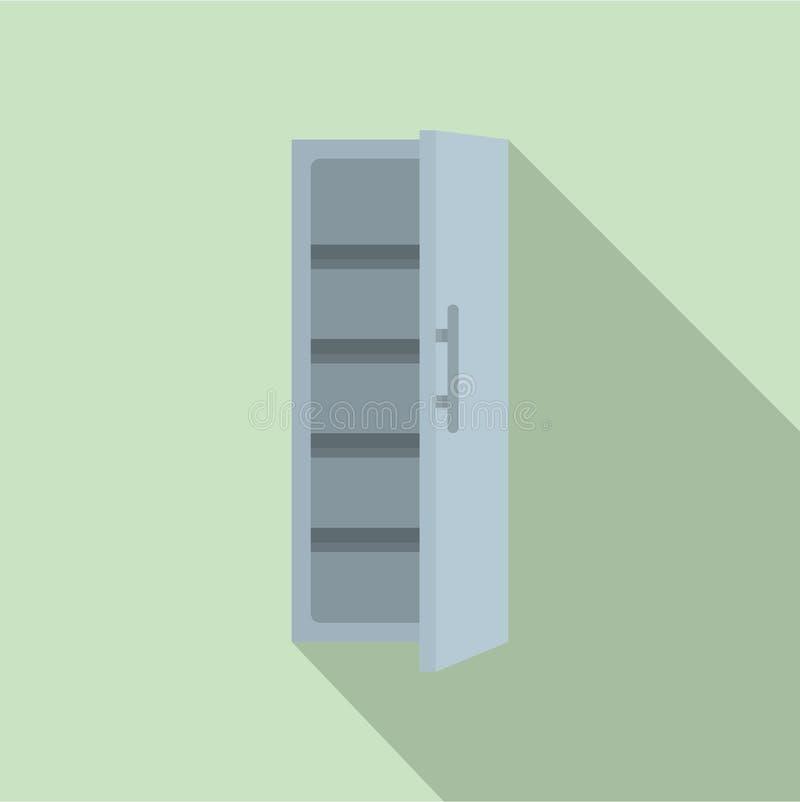 Icono del refrigerador de la cocina, estilo plano libre illustration