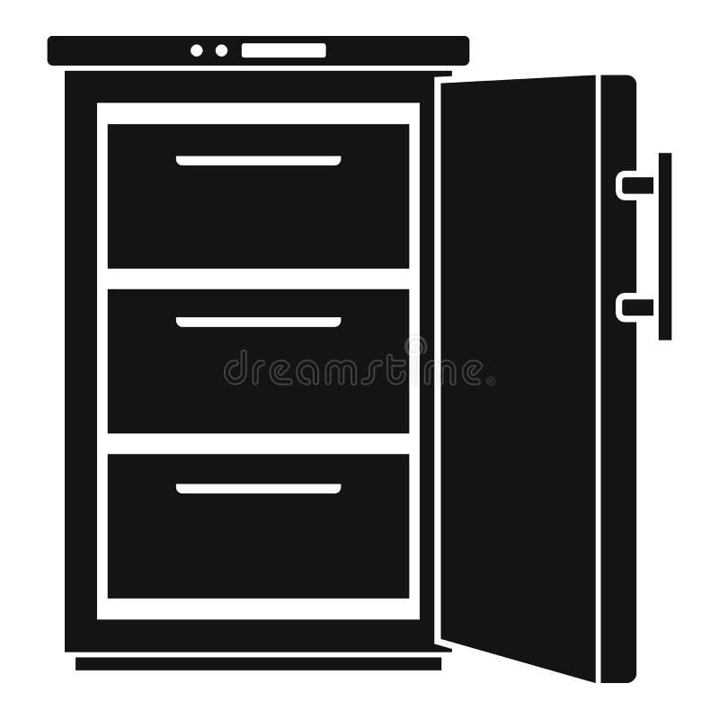 Icono del refrigerador, estilo simple stock de ilustración