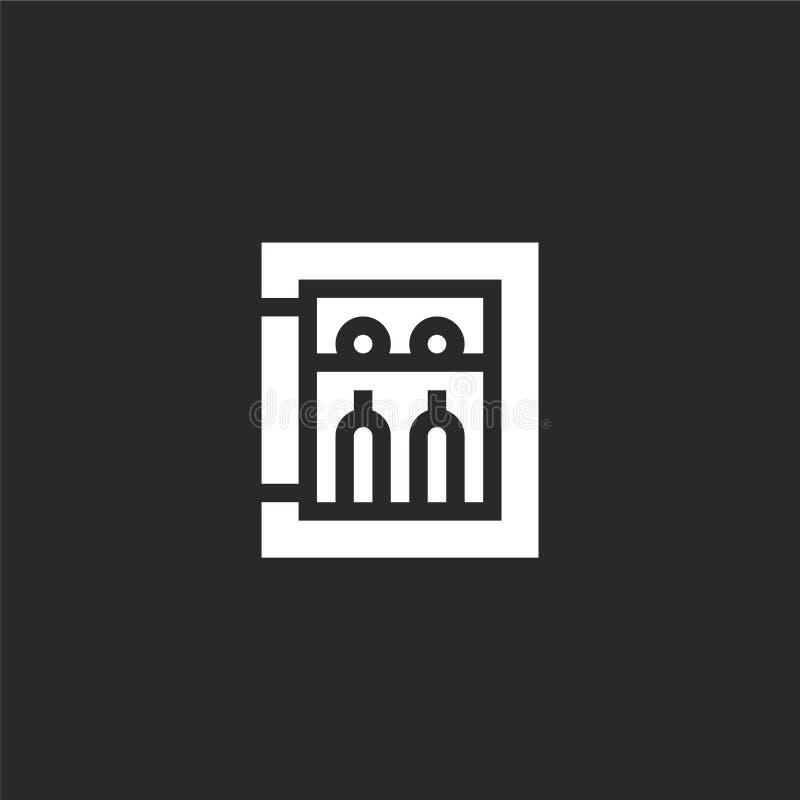 Icono del refrigerador Icono llenado del refrigerador para el diseño y el móvil, desarrollo de la página web del app icono del re libre illustration