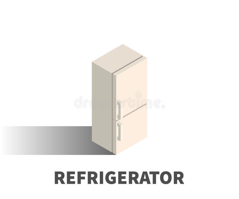 Icono del refrigerador, símbolo del vector stock de ilustración