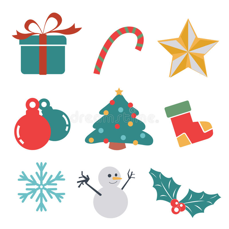 Icono del regalo de la Navidad libre illustration