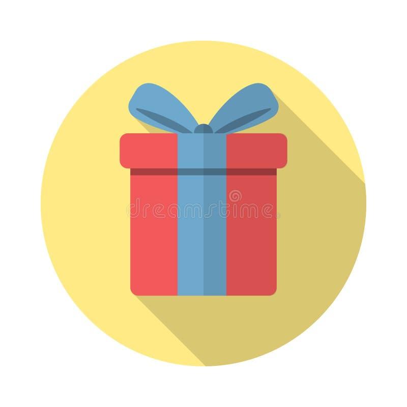 Icono del regalo en estilo plano ilustración del vector