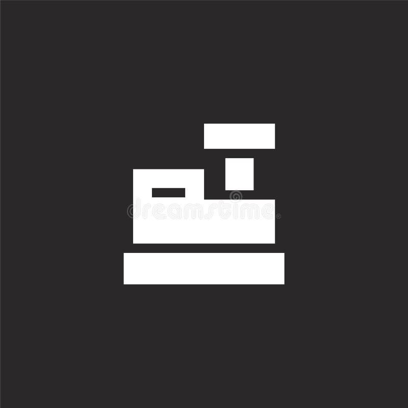 Icono del registro Icono llenado del registro para el diseño y el móvil, desarrollo de la página web del app icono del registro d stock de ilustración
