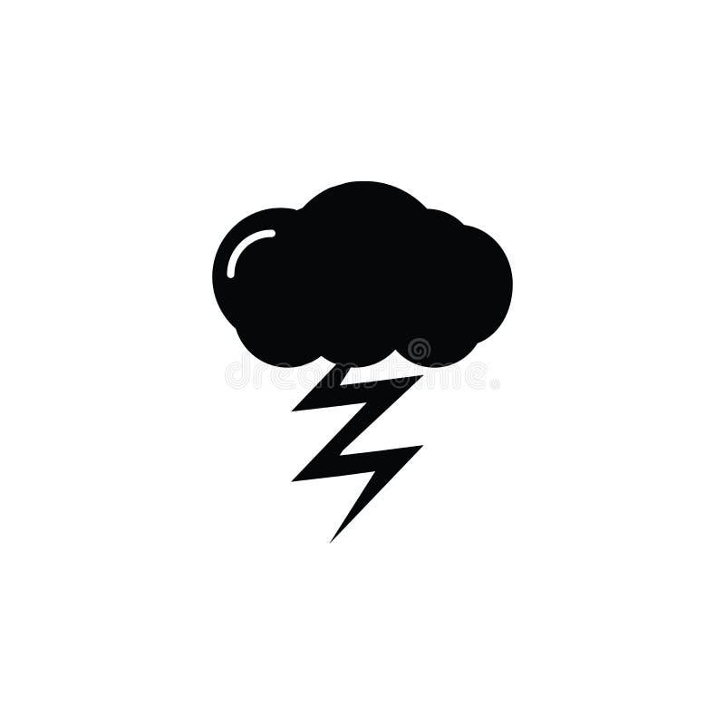 Icono del relámpago Elementos del icono de los desastres naturales Diseño gráfico de la calidad superior Muestras, icono de la co libre illustration