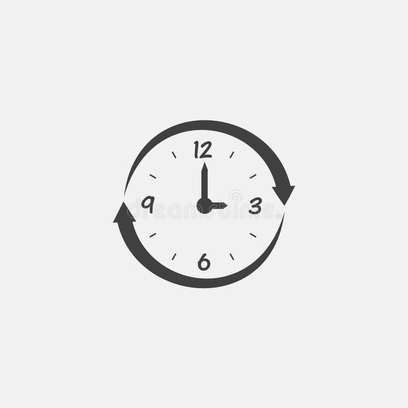 Icono del reloj stock de ilustración