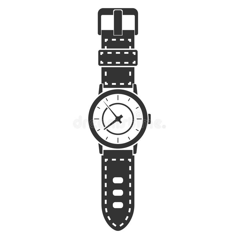 Icono del reloj de la mano stock de ilustración
