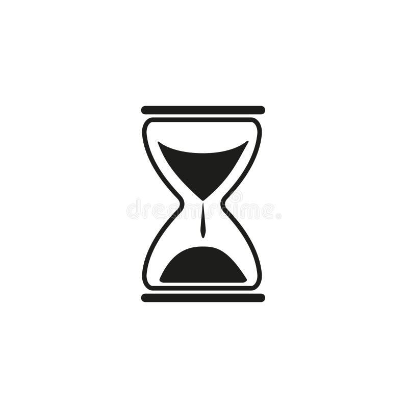 Icono del reloj de tiempo de la arena stock de ilustración