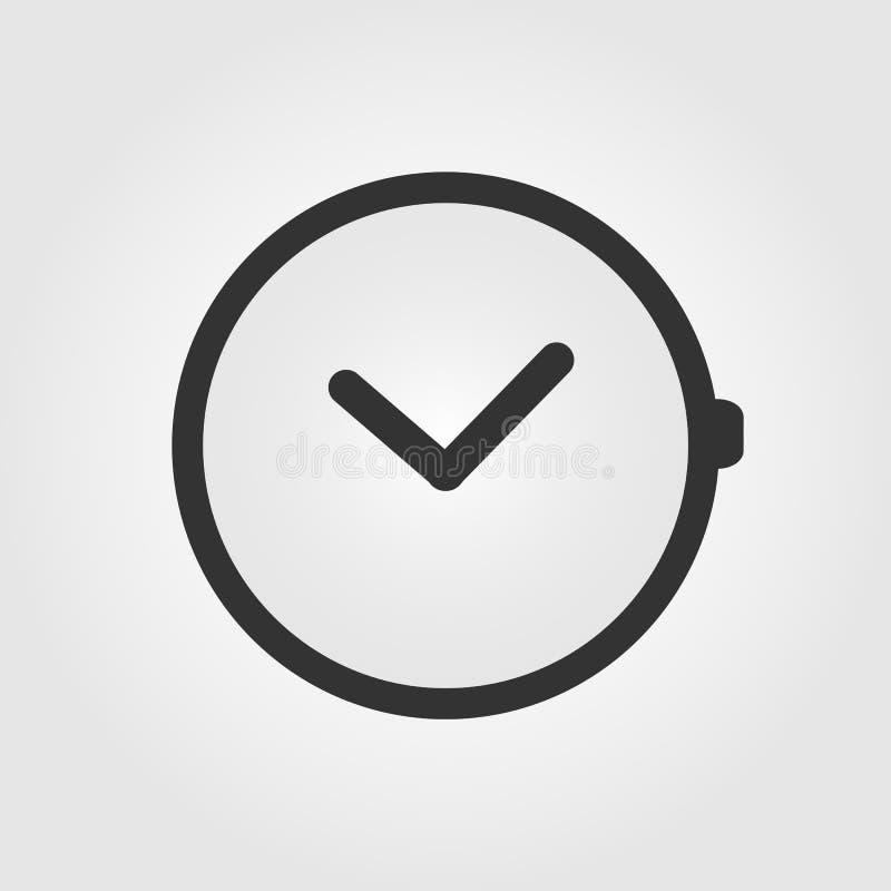 Icono del reloj, diseño plano