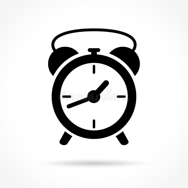 Icono del reloj en el fondo blanco ilustración del vector
