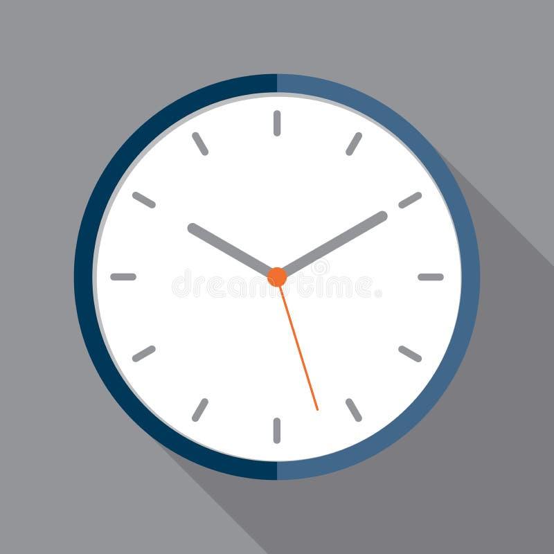 Icono del reloj en estilo plano foto de archivo