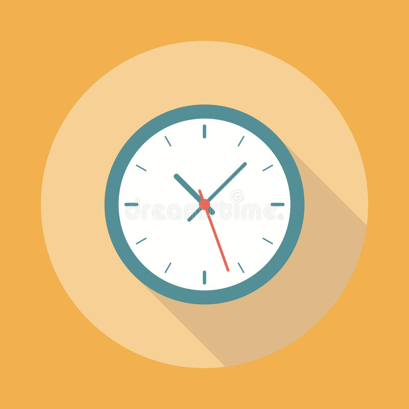 Icono del reloj plano libre illustration