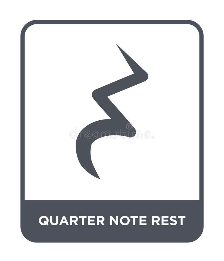 icono del resto de la nota cuarta en estilo de moda del diseño icono del resto de la nota cuarta aislado en el fondo blanco icono ilustración del vector