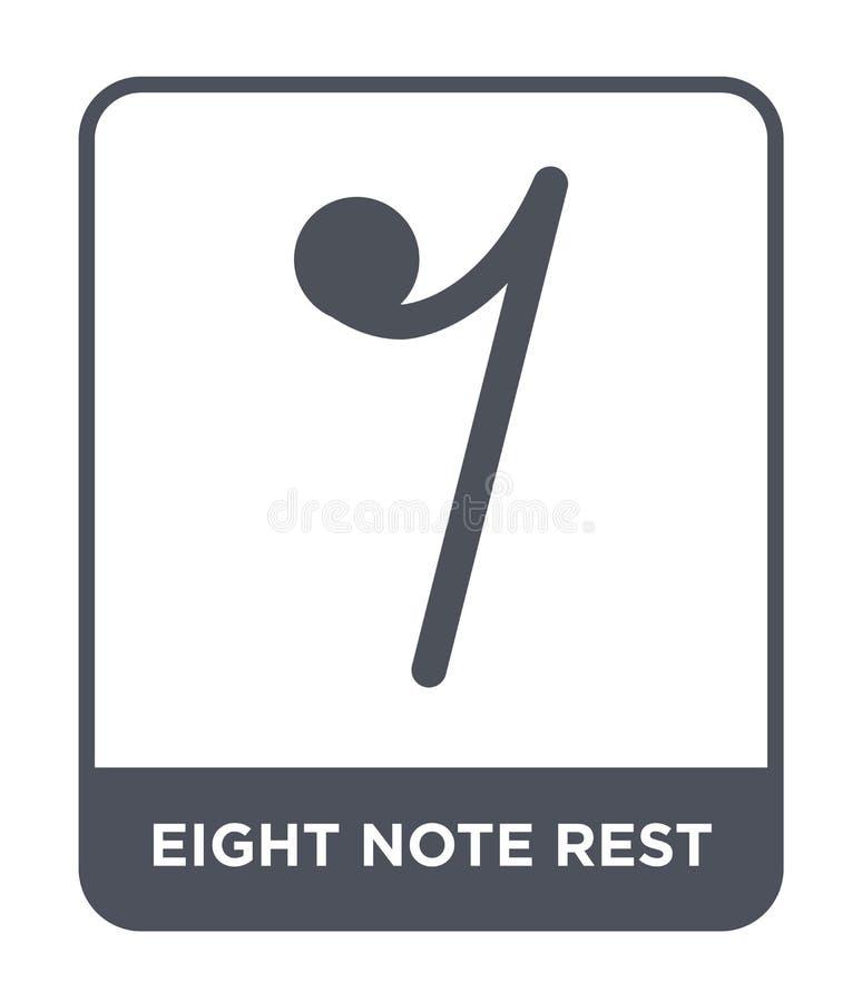 icono del resto de ocho notas en estilo de moda del diseño icono del resto de ocho notas aislado en el fondo blanco icono del vec ilustración del vector