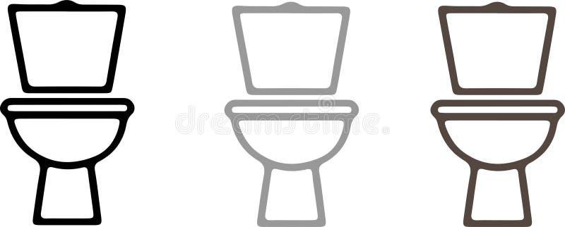Icono del retrete rasante en el fondo blanco ilustración del vector
