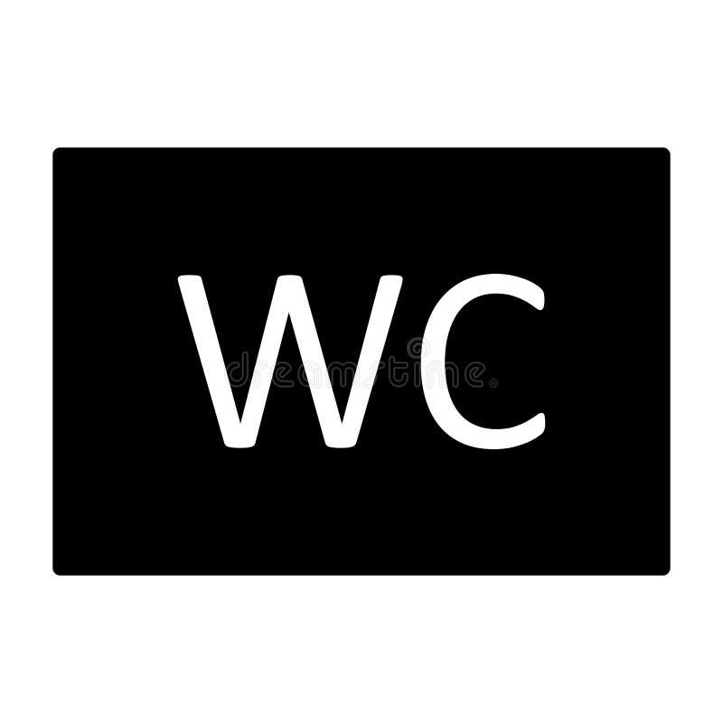 Icono del retrete del WC Pictograma mínimo simple 96x96 del vector ilustración del vector