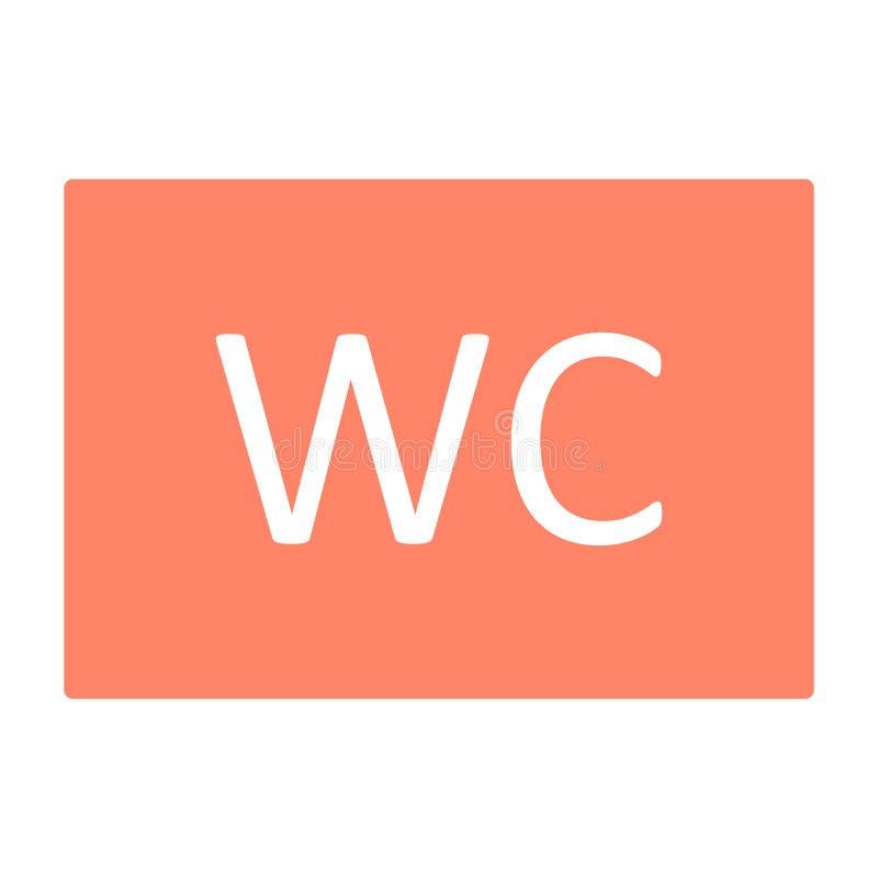 Icono del retrete del WC Pictograma mínimo simple 96x96 del vector stock de ilustración